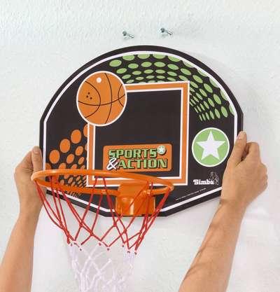 Игровой набор с корзиной Баскетбол Simba (7407609) 74318