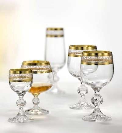 Бокалы для вина Bohemia Claudia Gold 190 мл. (40149/43081/190) 60212