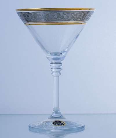 Бокалы для мартини Bohemia Olivia платина 210 мл.  (40346/43249/210) 60207