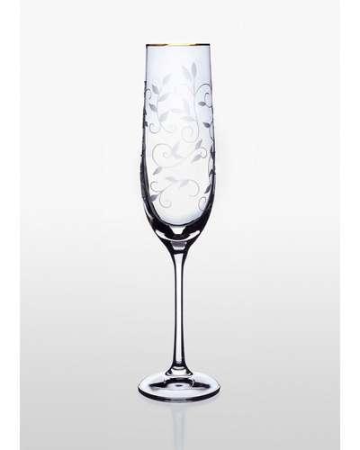 Набор из 2 бокалов для шампанского Viola Bohemia 190 мл. (06-03-190-2-019)