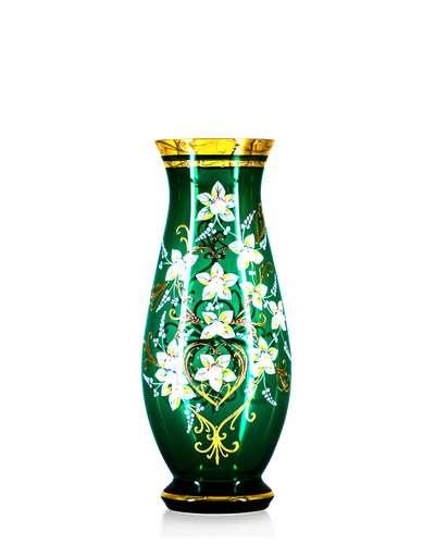 Ваза Bohemia Edera green 35 см. (17-350-038)