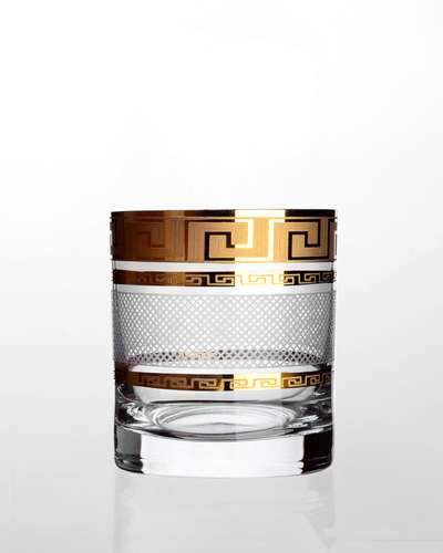 Набор стаканов для виски Bohemia Barline Karo Kostka золото (18-08-280-6-003)