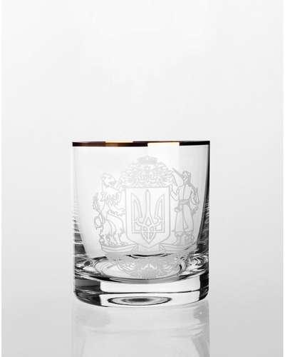 Набор стаканов для виски Bohemia Barline Герб золото (18-08-280-6-009)