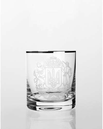 Набор стаканов для виски Bohemia Barline герб платина (18-08-280-6-010)