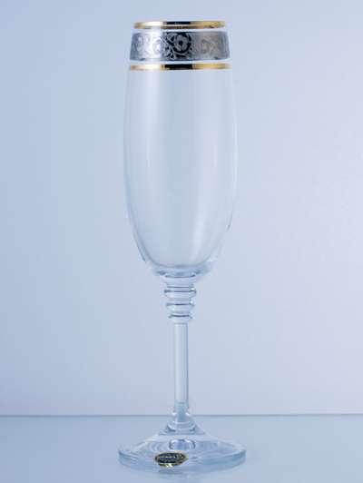 Бокалы для шампанского Bohemia Olivia Gold 190 мл. (40346/43249/190) 60219