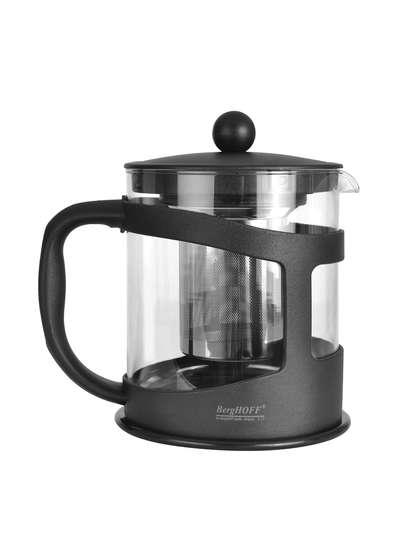 Чайник заварочный для чая стеклянный в черной подставке BergHOFF 1 л. (1106833)