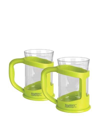 Чашка для кофе/чая стеклянная в подставке Berghoff 2 шт. (1106840)