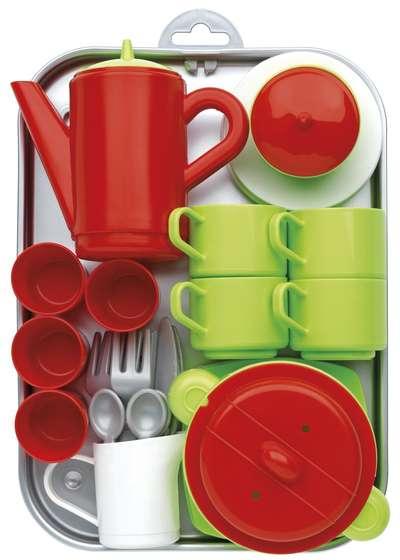 Игровой набор с посудой и подносом Chef-Cook Ecoiffier (972)