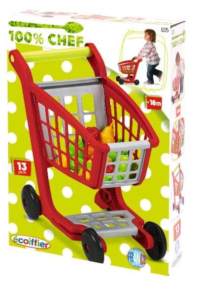 Тележка для супермаркета с продукпами Ecoiffier (1225) 74470