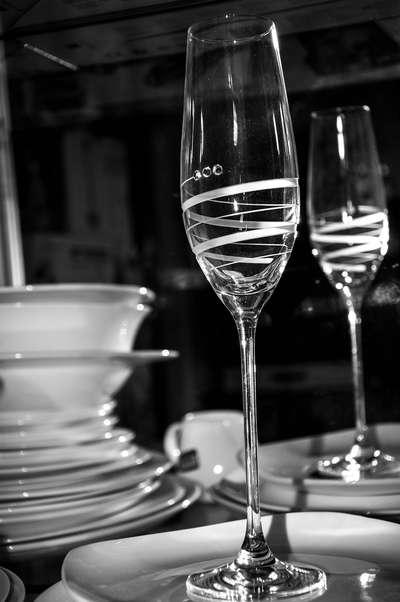 Бокалы для шампанского Swarovski Alute 210 мл. (1215-416)