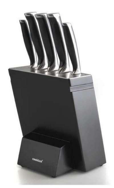 Набор ножей в черной колоде Cook&co 6 предметов (2801673)